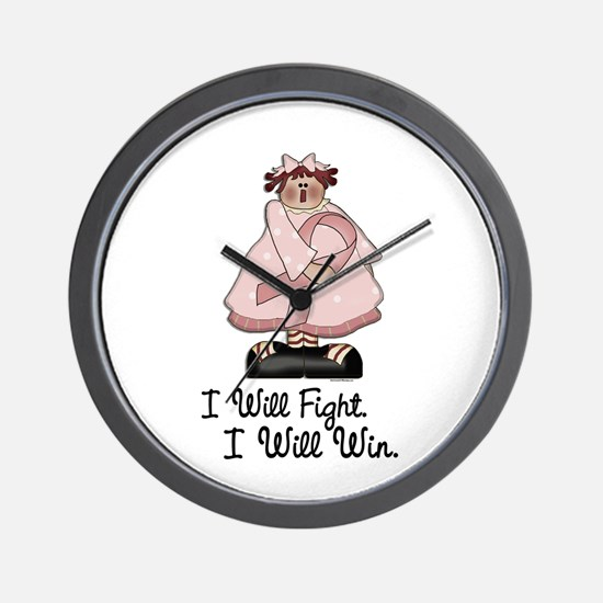 Country Girl Fight Win PINK 1 Wall Clock