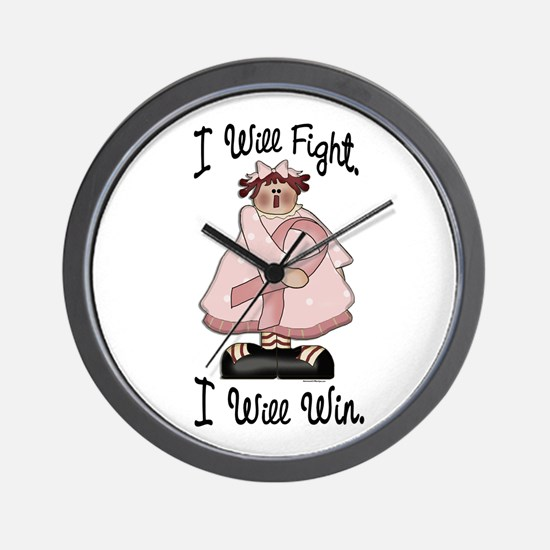 Country Girl Fight Win PINK 2 Wall Clock
