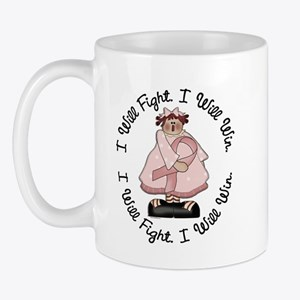 Country Girl Fight Win PINK 3 Mug