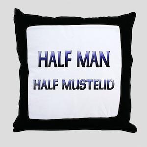 Half Man Half Mustelid Throw Pillow