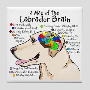 Yellow Lab Brain Tile Coaster