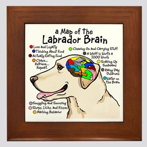 Yellow Lab Brain Framed Tile