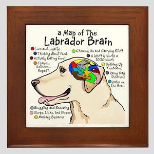 Yellow Lab Brain Framed Tile
