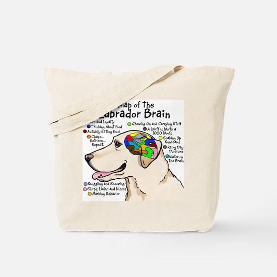 Yellow Lab Brain Tote Bag