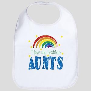 I Love My Lesbian Aunts Baby Infant Toddler Bib