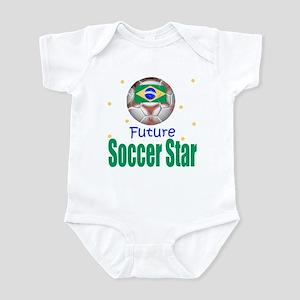 Future Soccer Star Brazil Baby Infant Bodysuit