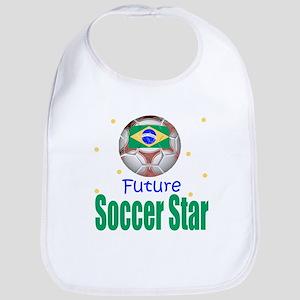Future Soccer Star Brazil Baby Infant Toddler Bib
