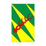 Outlands War Ensign Rectangle Sticker 50 pk)