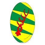 Outlands War Ensign Oval Sticker (10 pk)