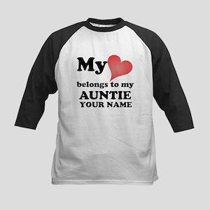 My Heart Belongs To My Auntie (Custom) Baseball Je