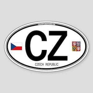 Czech Republic Euro Oval Oval Sticker