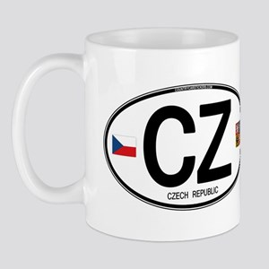 Czech Republic Euro Oval Mug