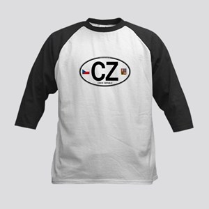Czech Republic Euro Oval Kids Baseball Jersey