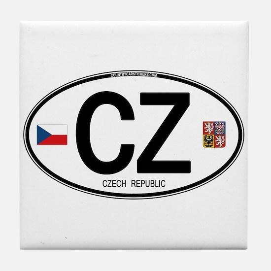 Czech Republic Euro Oval Tile Coaster