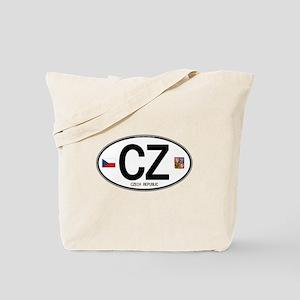 Czech Republic Euro Oval Tote Bag