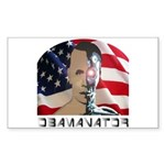 Obamanator Rectangle Sticker Obama Fun Wear
