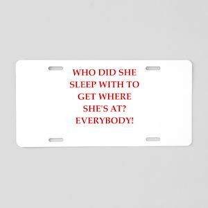 sleep Aluminum License Plate
