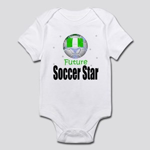 Future Soccer Star Nigeria Baby Infant Bodysuit