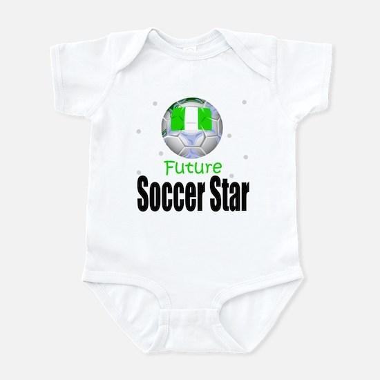 Future Soccer Star Nigeria Baby Infant Bodysuit