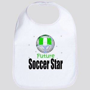 Future Soccer Star Nigeria Baby Infant Toddler Bib