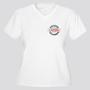 La Mesa California Women's Plus Size V-Neck T-Shir