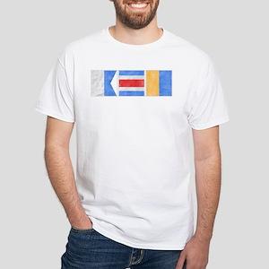 """Nantucket """"ACK"""" Signal Flag Women's Dark T-Shirt"""