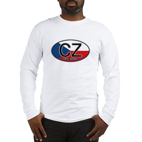 Czech Republic Euro Oval Long Sleeve T-Shirt