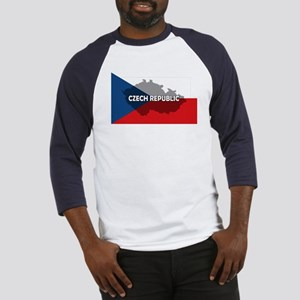 Czech Republic Flag Extra Baseball Jersey