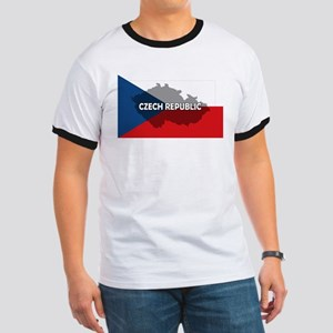 Czech Republic Flag Extra Ringer T