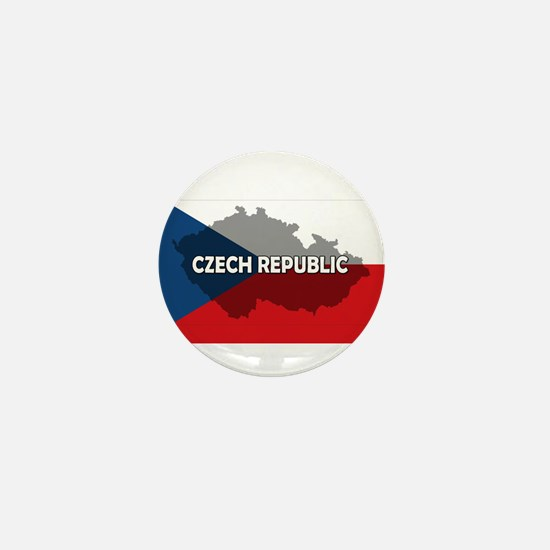 Czech Republic Flag Extra Mini Button