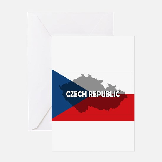Czech Republic Flag Extra Greeting Card