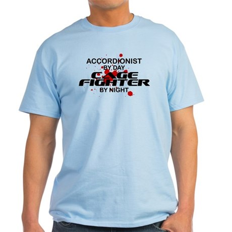 Accordionist Cage Fighter by Night Light T-Shirt