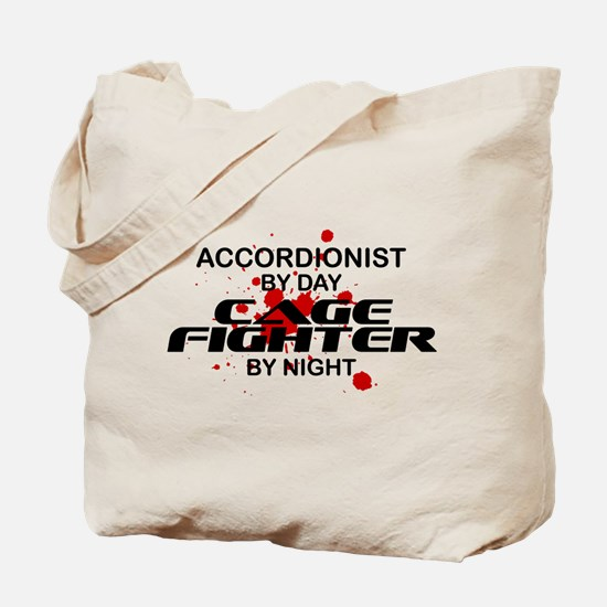 Accordionist Cage Fighter by Night Tote Bag