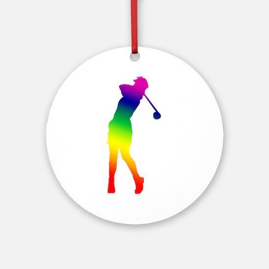 Golfer Ornament (Round)