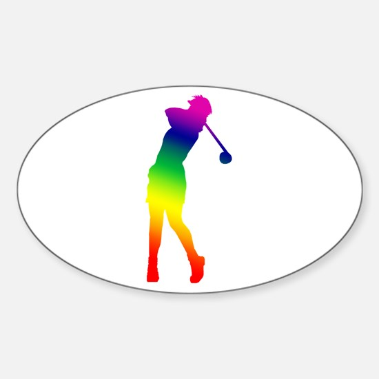 Golfer Oval Decal