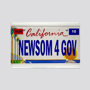 Gavin Newsom for Governor of Rectangle Magnet