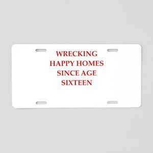 home wrecker Aluminum License Plate