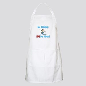 Ice Fishing not for wimps BBQ Apron