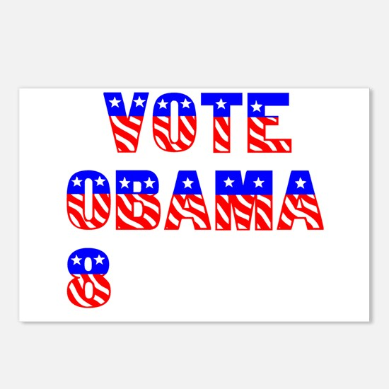 """Vote Obama '08"" Postcards (Package of 8)"