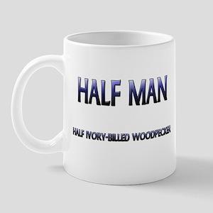 Half Man Half Ivory-Billed Woodpecker Mug