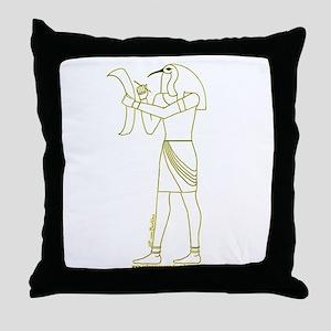 Egyptian God Thoth II Throw Pillow
