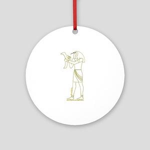Egyptian God Thoth II Ornament (Round)