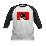 Cat Kids Baseball Jersey