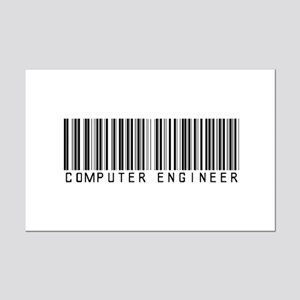 Computer Engineer Barcode Mini Poster Print
