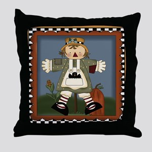 Cute Harvest Scarecrow Throw Pillow