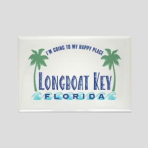 Longboat Key Happy Place - Rectangle Magnet