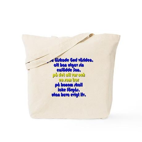 John 3:16 Swedish Tote Bag