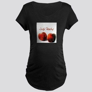 Just Peachy - Maternity Dark T-Shirt
