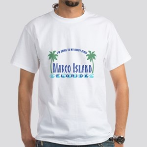Marco Island Happy Place - White T-Shirt