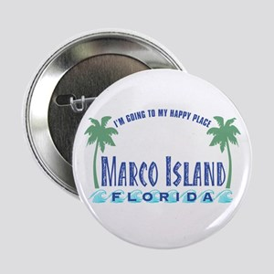 "Marco Island Happy Place - 2.25"" Button"